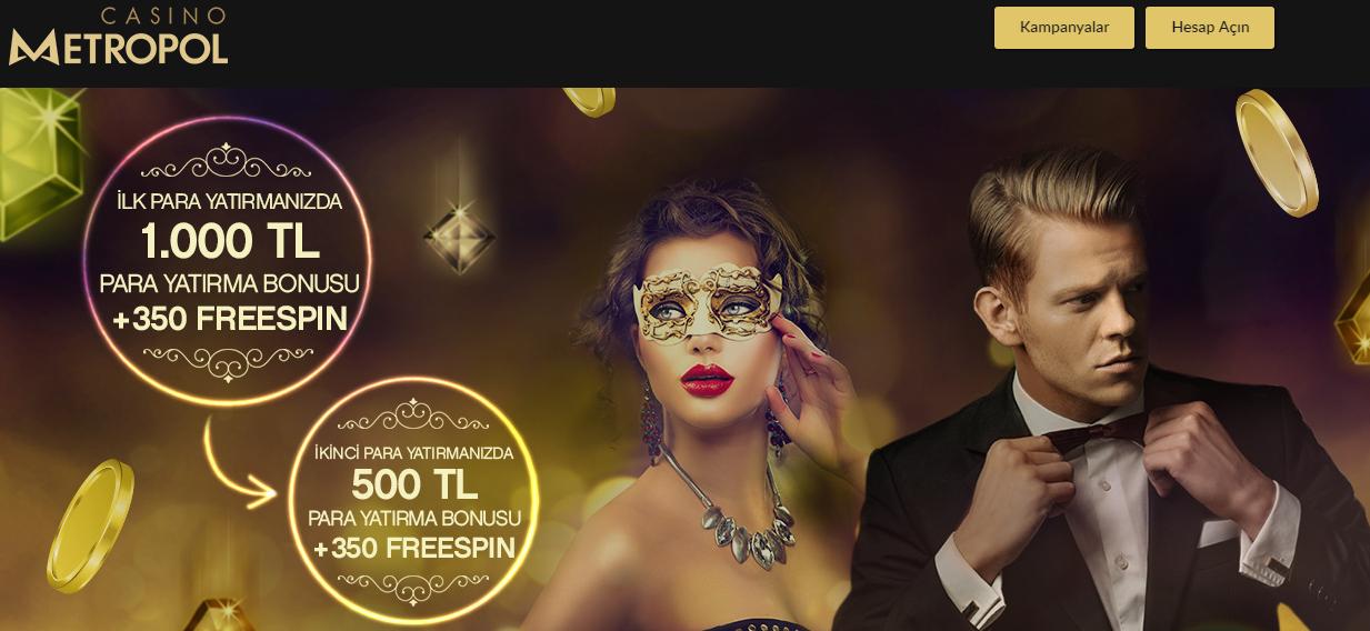 Casino Metropol'den 1500 TL 'ye kadar Hoş Geldin Bonus Paketi